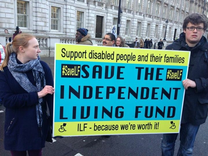 Independent Living Fund demonstration, London 2015