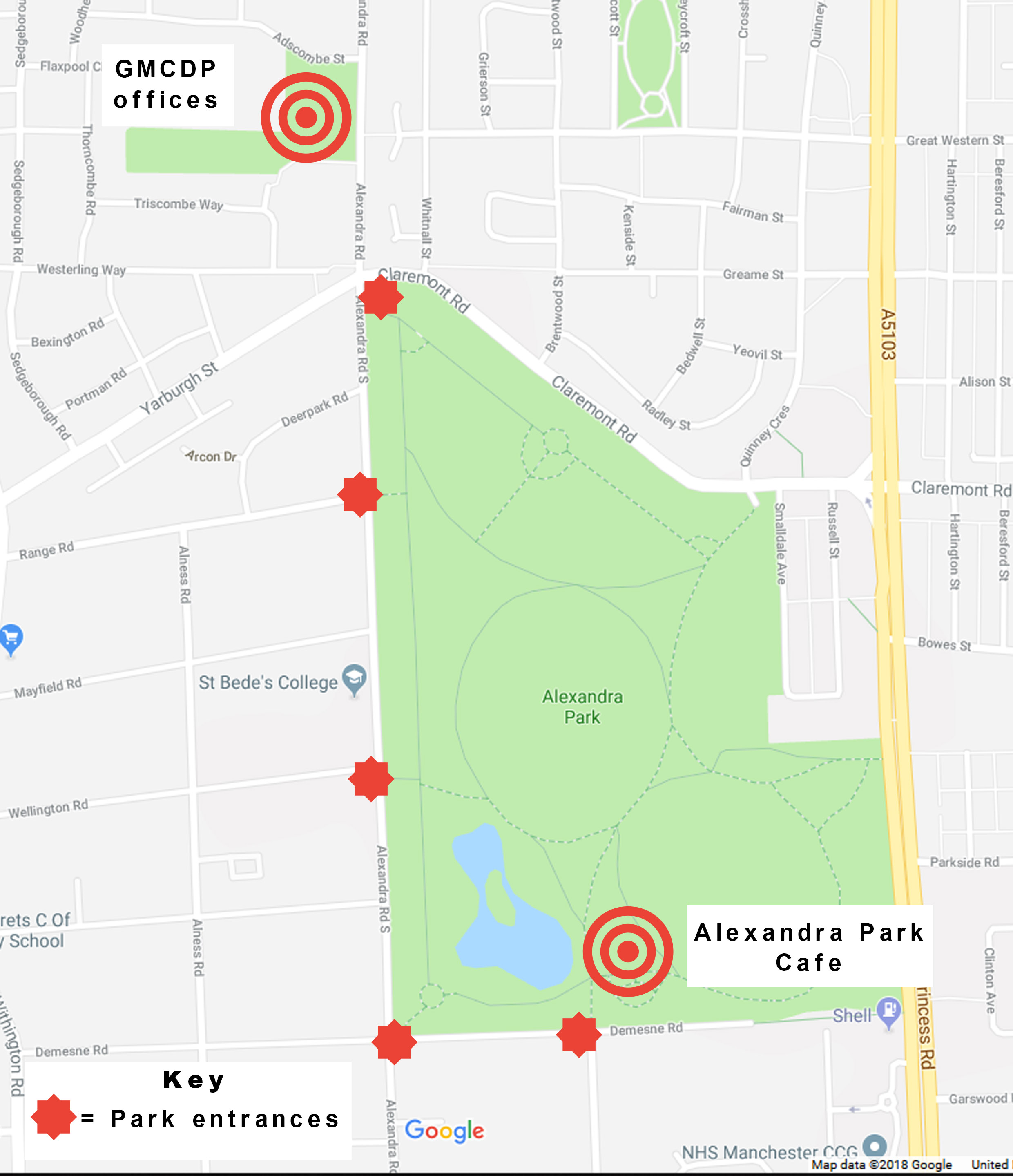 Map of Alexandra Park