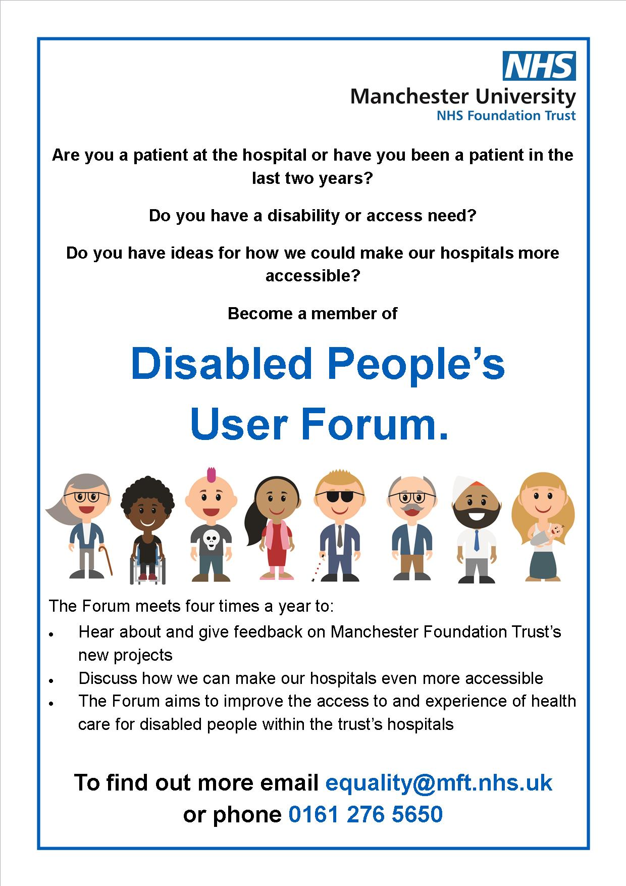 MFT Disabled People's User Forum Poster